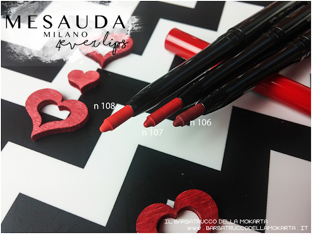 makeup review recensione 4ver lips , matite labbra, automatica, mesauda