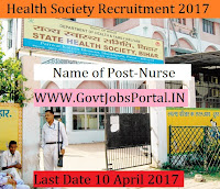 District Health Society Recruitment 2017- 54 Nurse