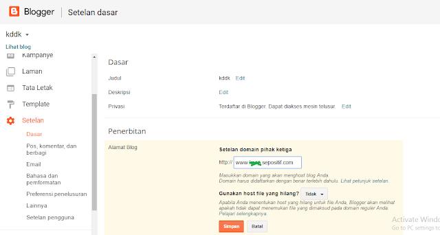 Tuturial Cara Setting & Membuat Subdomain di Blogger Terbaru