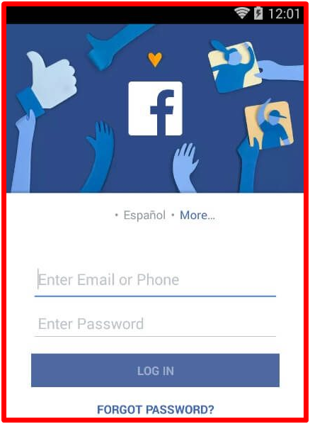 Facebook Login Mobile