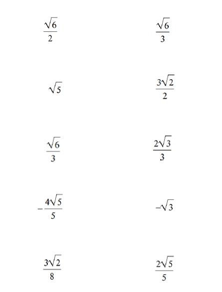 Math Love Rationalizing The Denominator Practice Activity