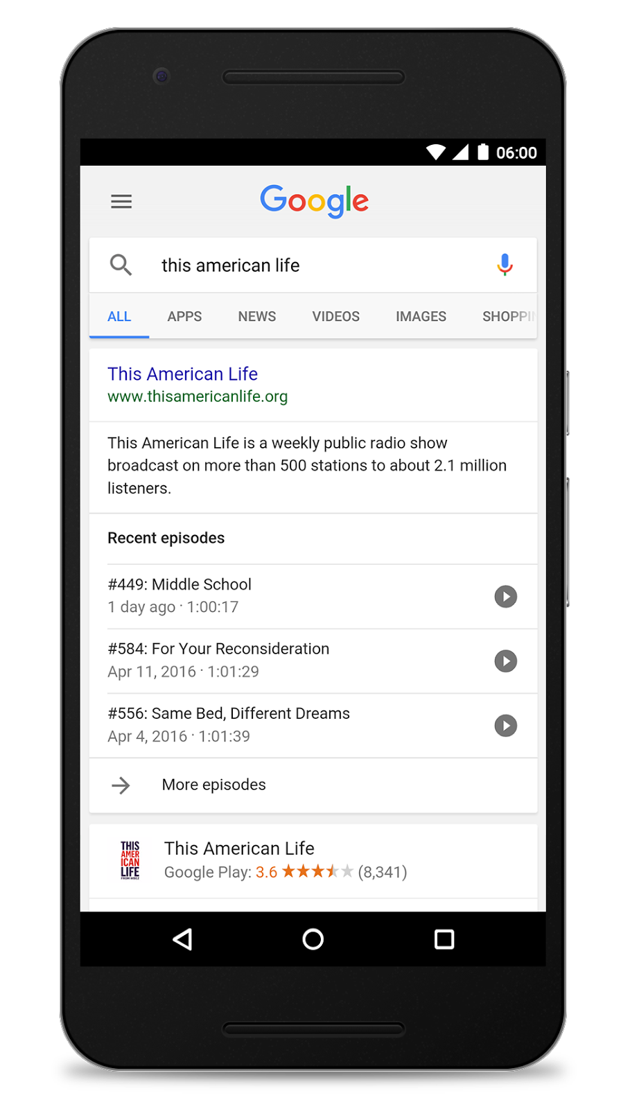 Listen to podcasts in the Google App on Android | googblogs com
