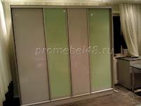 Корпусный шкаф с дверями  купе МДФ в плёнке металлик