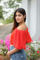 Rhea Chakraborty in Red Crop Top and Denim Shorts Spicy Pics ~  Exclusive 168.JPG