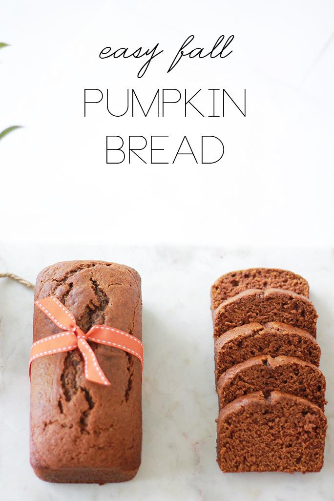 easy fall pumpkin bread recipe