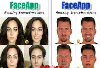 faceapp untuk editing wajah di anddroid