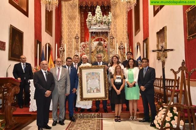 El Ayuntamiento de Santa Cruz de La Palma renueva el título de la Virgen de las Nieves como alcaldesa honoraria y perpetua