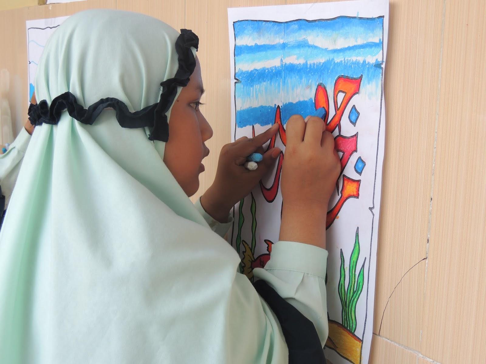 Estafet Mewarnai Kaligrafi Kegiatan Akhir Semester Sdit Al Hidayah