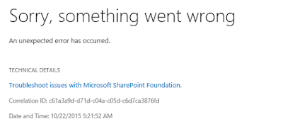 "SharePoint: ""Sorry, something went wrong"" ao adicionar usuários no grupo Farm Administrators"