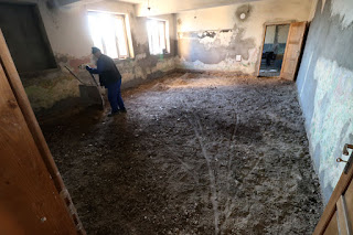 Sand going onto the floor