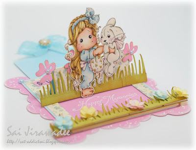 Magnolia Tilda Inez Bunny Slider Pop Up Card