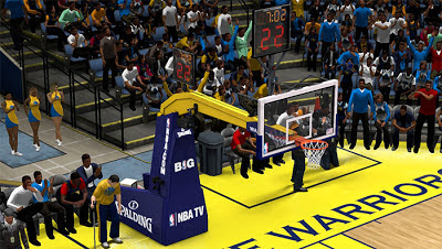 NBA 2K13 Golden State Warriors Court Backboard Mod