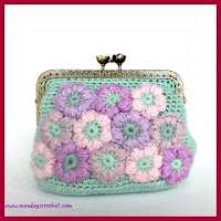 Monedero puff a crochet