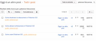 Come vedere quante visite ha fatto un post su blogger