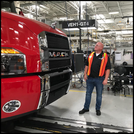 Jamie Davis from Highway Through Hell visits the Mack Trucks Lehigh Valley Macungie Plant