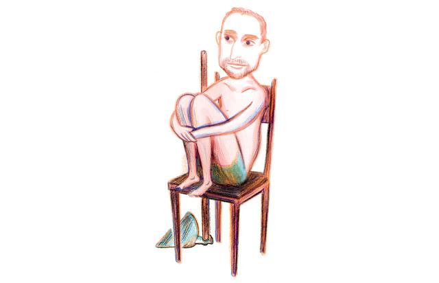Ilustração de Enrique Coimbra por Andrés Sandoval para a revista Piauí
