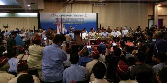 Hadiri Deklarasi Relawan di Solo, Prabowo Ngaku Ketakutan dengan Besarnya Dukungan