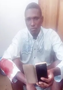 Photo: NYSC Corper Arrested For Stealing Phone From Cashier At Eco Bank In Abakaliki Ebonyi State