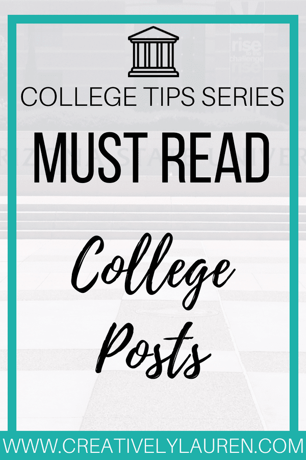 I'm sharing my favorite college posts from other bloggers! Get ready for the new semester with these posts!