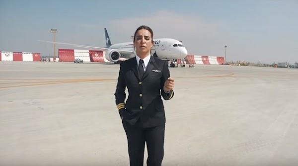 ¿Las mujeres no saben manejar?: Aeroméxico lo desmiente y presenta a una de sus pilotos