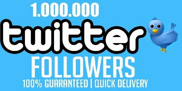 1000000 Twitter Followers