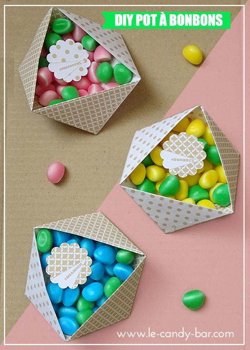 diy origami facile avec bonbons