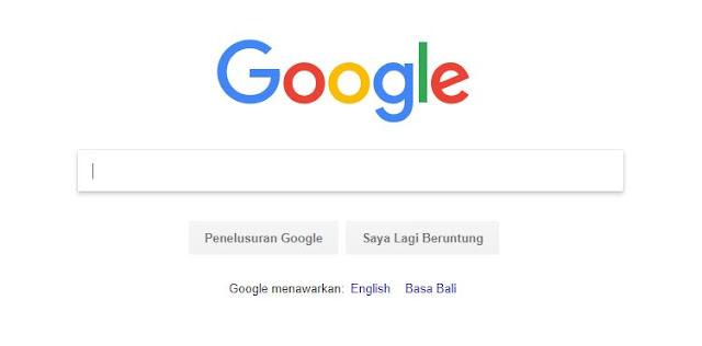 Moto Google: Kesederhanaan!