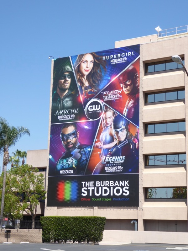 CW DC superhero shows 2017 billboard