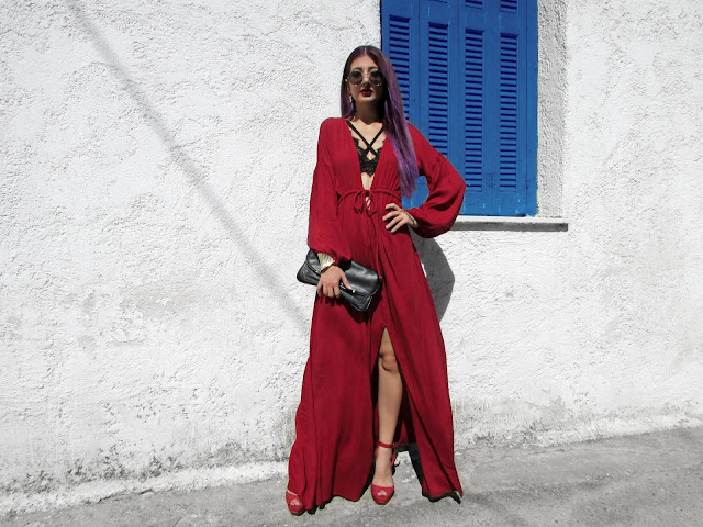 maxi red dress outfit