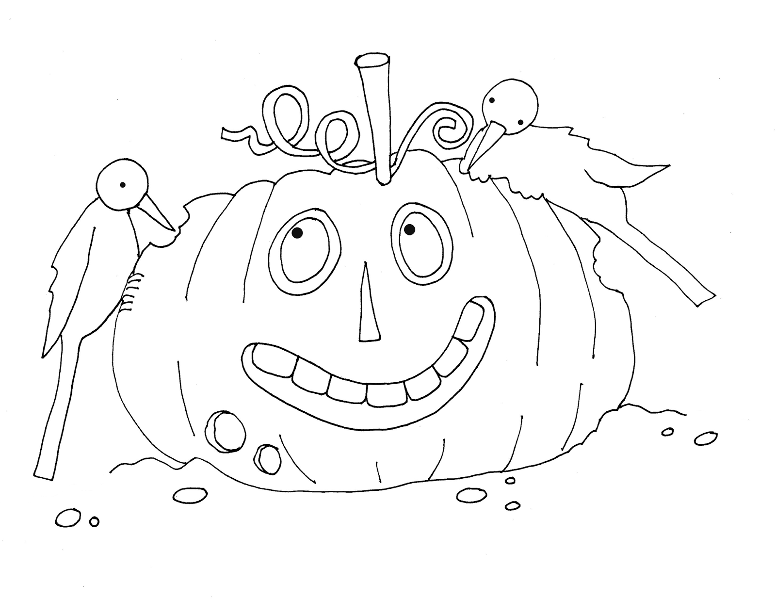Free Dearie Dolls Digi Stamps: Pumpkin Head