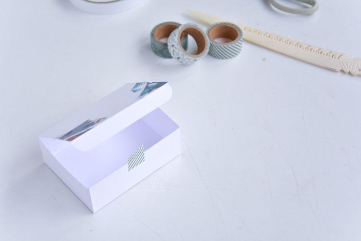 washi tape en el borde