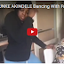 OH!! SEE WHAT NOLLYWOOD ACTRESS FUNKE AKINDELE WAS C*UGHT DOING IN KITCHEN IN LONDON