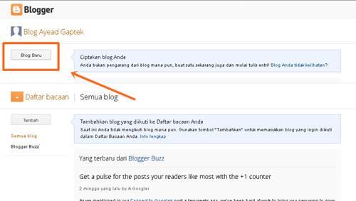 cara daftar blogspot
