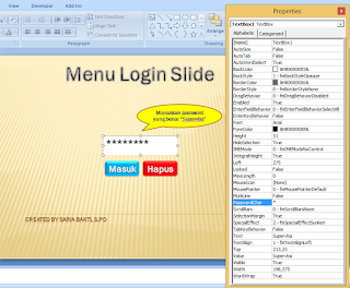 set password char vba powerpoint