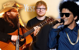 Ed Sheeran & Chris Stapleton Delivers New Song 'BLOW' Feat. Bruno Mars