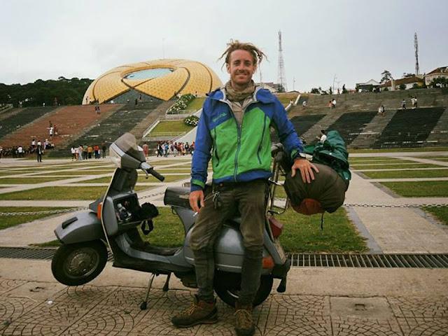 Chàng trai nước Ý lái vespa từ Milan đến Việt Nam