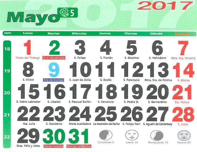 Huerto urbano luis servia borgas calendario lunar 2017 for Almanaque lunar 2017