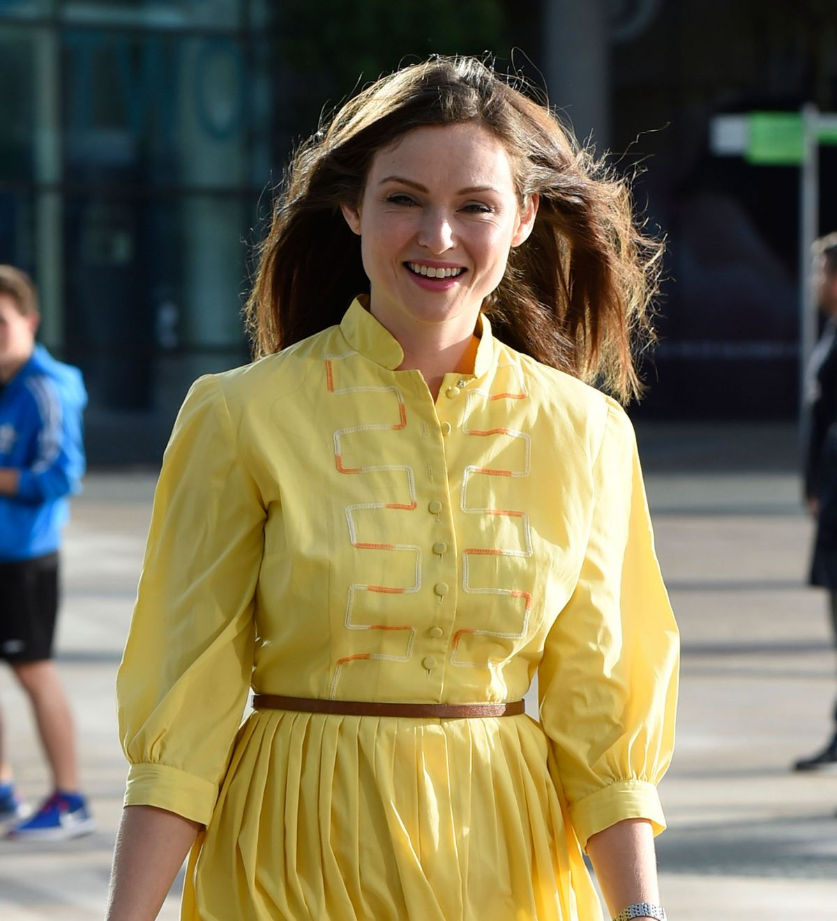 Sophie Ellis Bextor at BBC Breakfast Studios in Manchester 2016