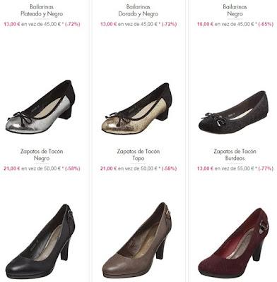 Bailarinas zapatos de tacón
