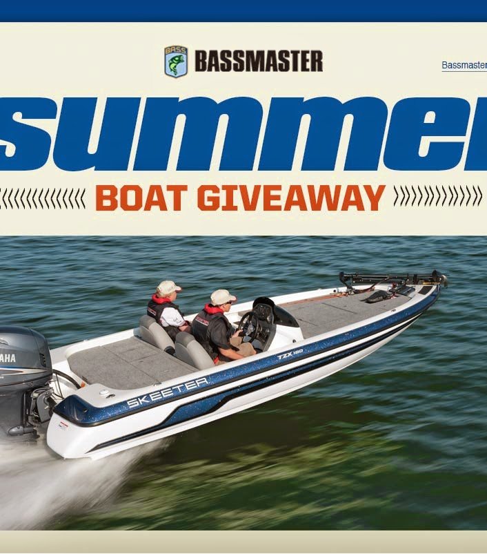 Bassmaster 2014 Summer Boat Sweepstakes
