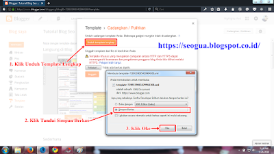 Tutorial Cara mencadangkan Template Blog Tahap 2