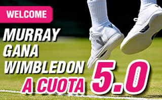 wanabet Murray gana Wimbledon 2016 cuota 5 + 150 euros codigo JRVM