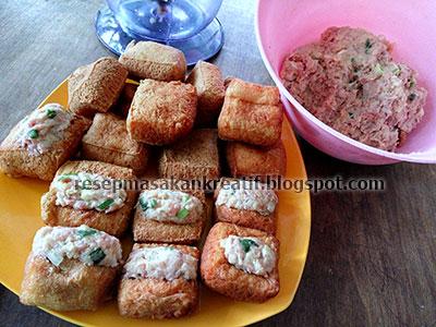 Resep Tahu Isi Bakso Goreng Daging