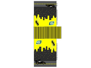 Batman in Black and Yellow, Free Printable Tic Tac Labels.