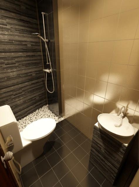 desain kamar mandi modern minimalis ukuran 2x1 5