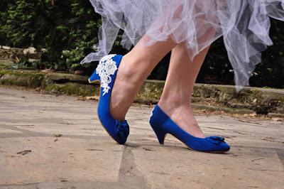 Zapatos de Novia Azules