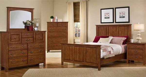inspirasi Furnitur Kayu Alami di kamar tidur