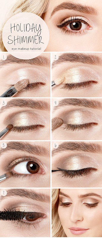 Holiday Eye Makeup Tutorial with step by step photos and instructions - Ioanna's Notebook