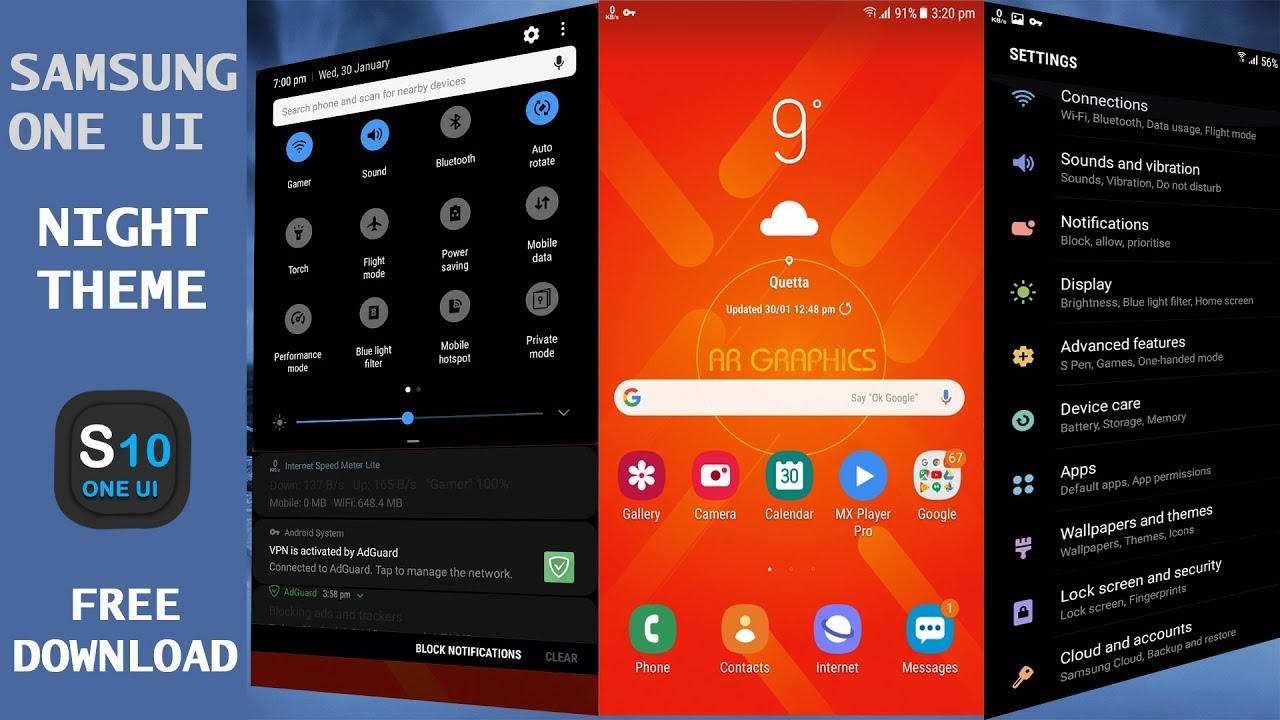 how to download samsung one ui night theme apk - A2Z Free