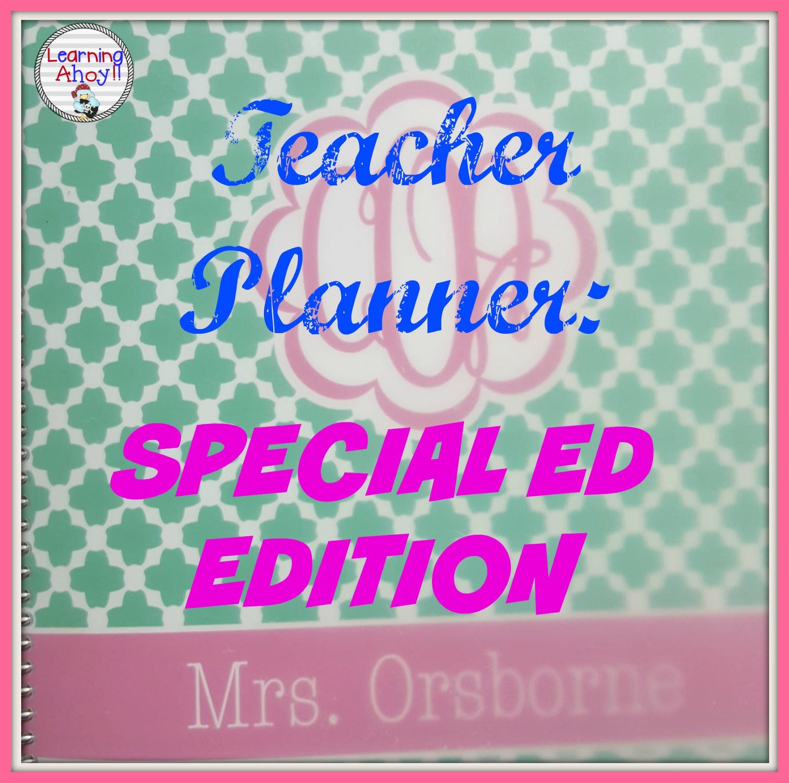 Teacher Planner Sped Edition